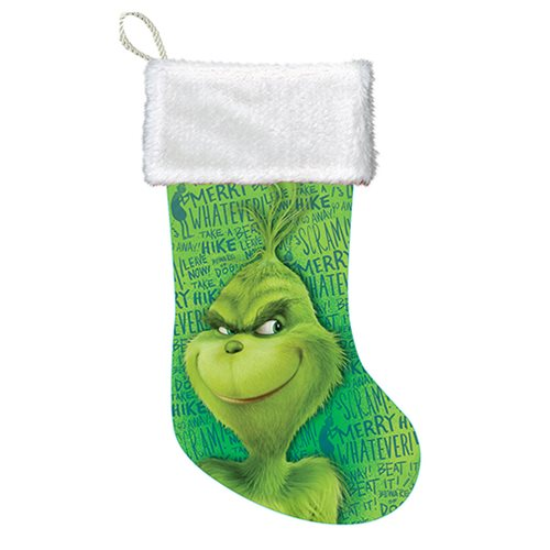The Grinch Whatever 19-Inch Cuff Stocking