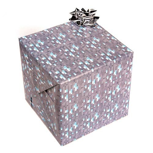 Minecraft Diamond Gift Wrap