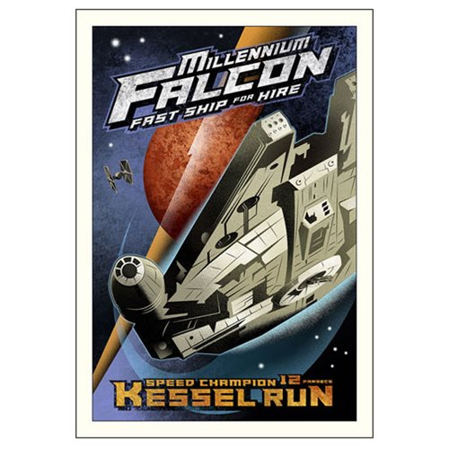 Star Wars Kessel Run by Mike Kungl Small Canvas Giclee Art Print