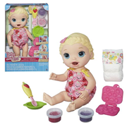 Baby Alive Snackin' Lily Doll (White and Blonde), Not Mint