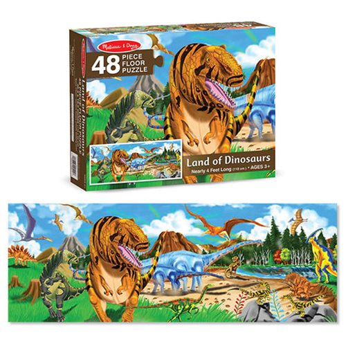 Land Of Dinosaurs Floor 48-Piece Puzzle