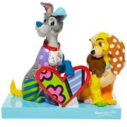 Disney Lady and the Tramp by Romero Britto Statue