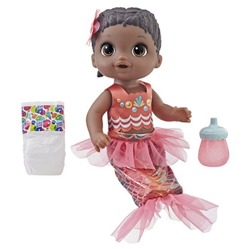Baby Alive Shimmer 'n Splash Mermaid Doll - Black Hair