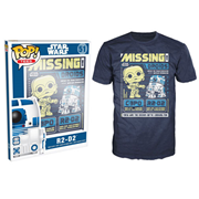 Star Wars C-3PO and R2-D2 Poster Blue Pop! T-Shirt