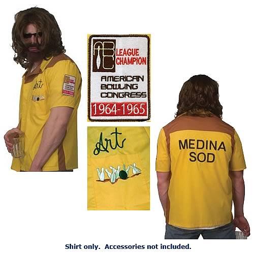 4306a6b53 Big Lebowski Dude Art Bowling Shirt - Entertainment Earth