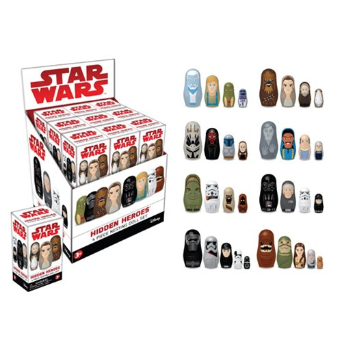 Star Wars Hidden Heroes Nesting Dolls Blind Box Case