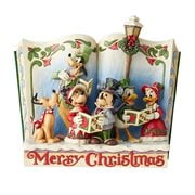 Disney Traditions Storybook Christmas Carol Merry Christmas by Jim Shore Statue