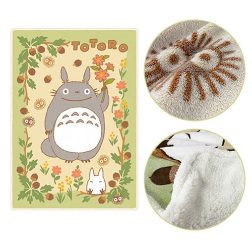 My Neighbor Totoro Totoro in the Sunny Forest Plush Blanket