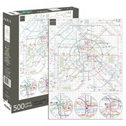 Paris Metro Map 500-Piece Puzzle