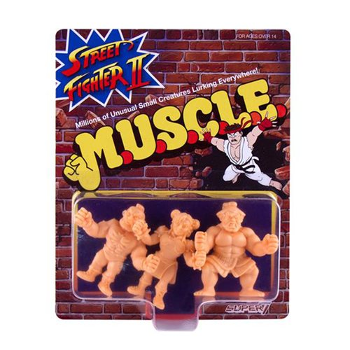 Street Fighter M.U.S.C.L.E. Pack D Mini-Figures - Chun-Li, Zangief, E. Honda