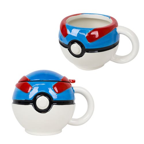 Pokemon Great Ball Molded Mug with Lid
