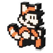 Pixel Pals Super Mario Bros 3 Raccoon Mario Collectible Lighted Figure