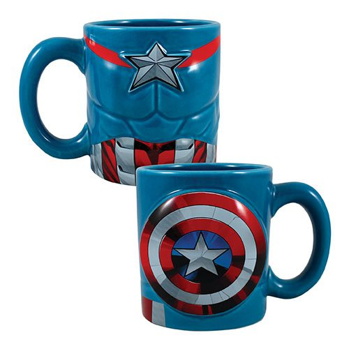 Captain America 20 oz. Sculpted Ceramic Mug