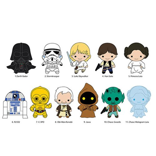Star Wars Figural Key Chain Random 6-Pack