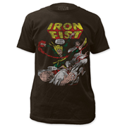The Invincible Iron Fist Comic Black T-Shirt