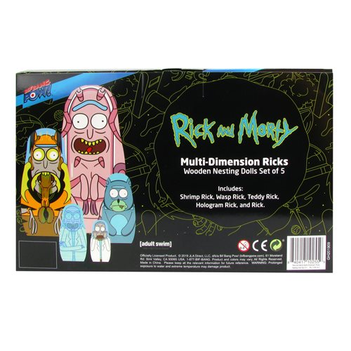 Rick and Morty Multi-Dimension Ricks Nesting Dolls Set of 5