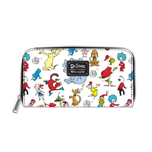 Dr. Seuss Multi-Character Print Zip-Around Wallet