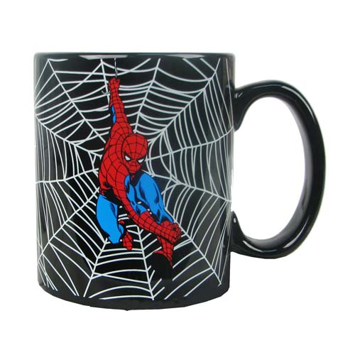 Spider-Man Webbing 20 oz. Black Ceramic Mug