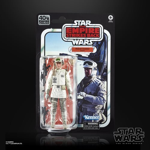 Star Wars The Black Series Empire Strikes Back 40th Anniversary 6-Inch Hoth Rebel Soldier Action Fig