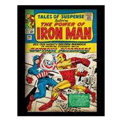 Tales of Suspense Iron-Man and Captain America Marvel Comic Book Cover  Stretched Canvas Print