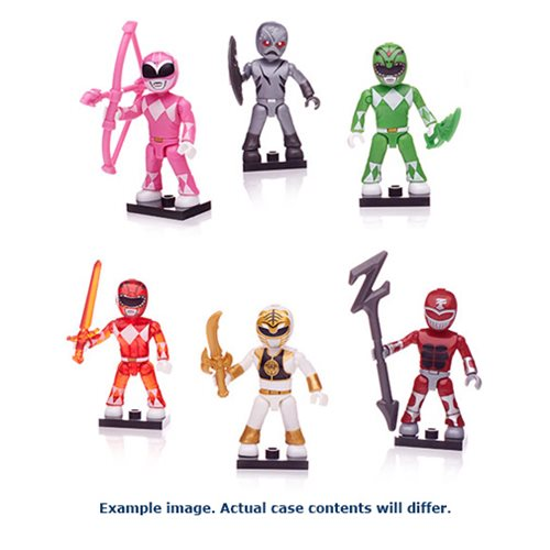 Mega Construx MMPR Blind Bag Mini-Figures Case