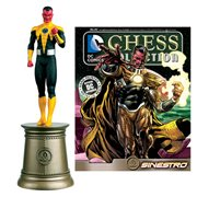 DC Superhero Sinestro Black Bishop Chess Piece with Collector Magazine