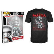 Star Wars: Episode VII - The Force Awakens Captain Phasma Poster Black Pop! T-Shirt