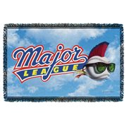 Major League Logo Woven Tapestry Throw Blanket