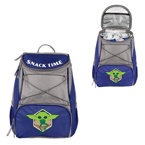 Star Wars The Mandalorian Grogu with Frog Navy-Blue PTX Backpack
