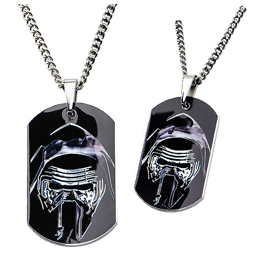 Star Wars: Episode VII - The Force Awakens Kylo Stainless Steel Dog Tag Pendant Necklace