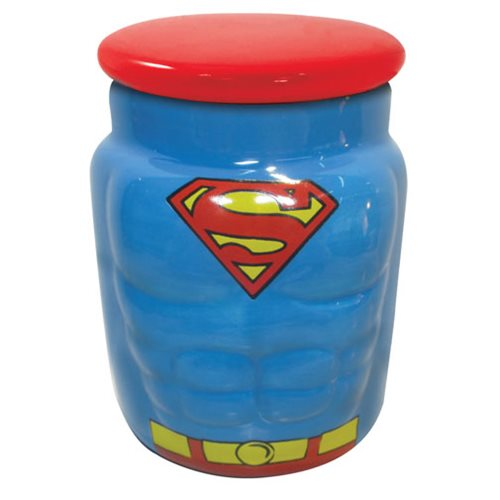 Superman Molded Character Ceramic Apothecary Jar
