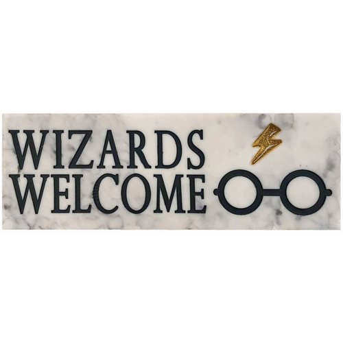 Harry Potter Wizard's Welcome Desk Sign