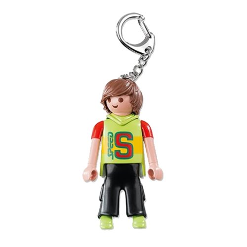 Playmobil 6613 Skateboarder Action Figure Key Chain