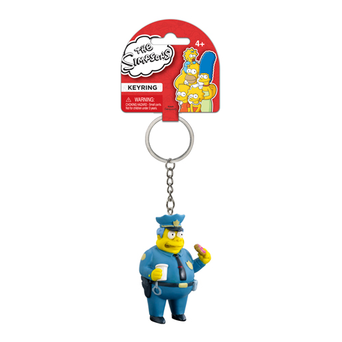 The Simpsons Chief Wiggum 3-D Mini-Figure Key Chain