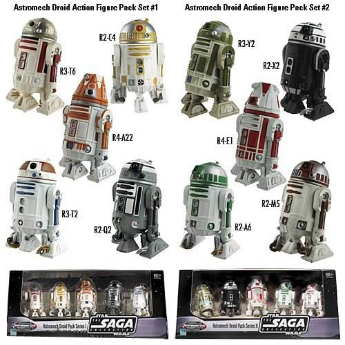 EE Exclusive Star Wars Astromech Droids Complete Set