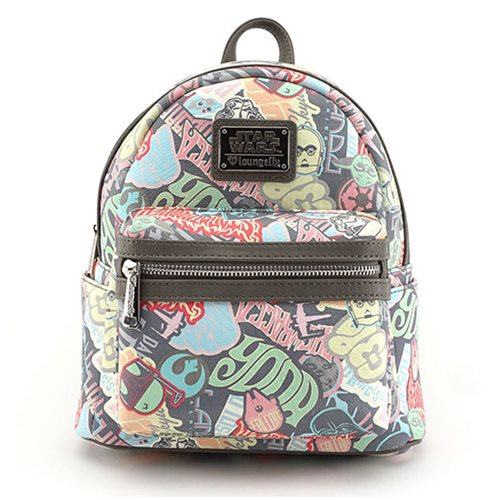 Star Wars Pastel Sticker Print Mini-Backpack