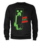 Minecraft Super Sketchy Creeper Youth Crew Neck Sweatshirt