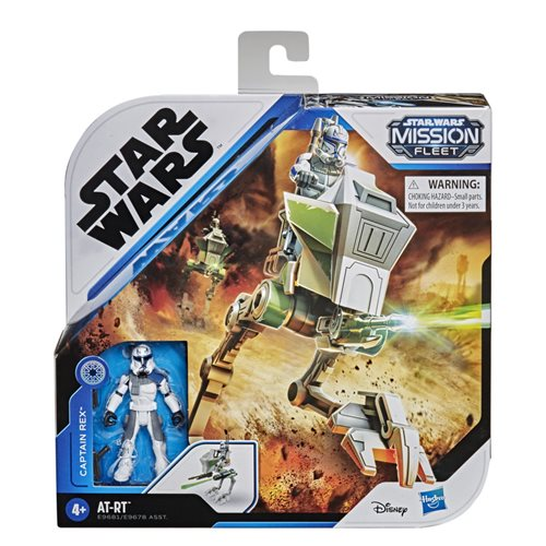 Star Wars Mission Fleet Expedition Class Captain Rex Clone Combat Figure and AT-RT Vehicle