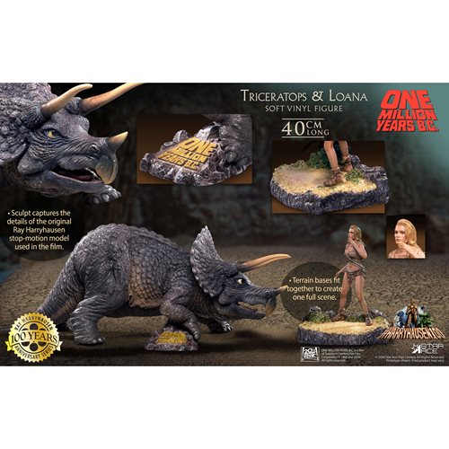One Million Years B.C. Triceratops and Loana Soft Vinyl Statue