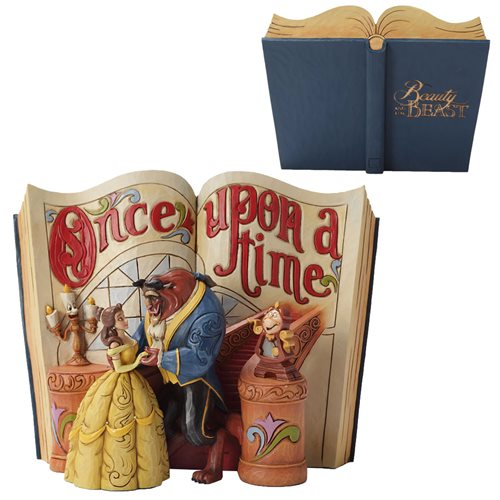 Disney Traditions Beauty and the Beast Love Endures Storybook Statue
