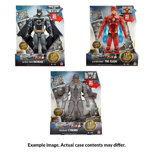 Justice League Movie Lights and Sound 12-Inch Action Figure Wave 1 Case