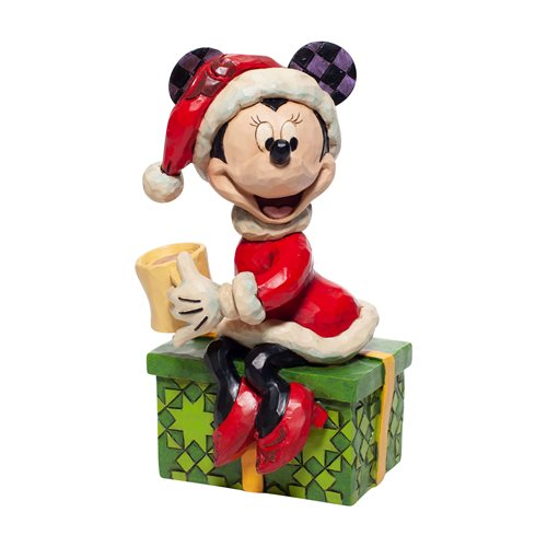 Disney Traditions Santa Minnie Mouse with Hot Chocolate Statue by Jim Shore