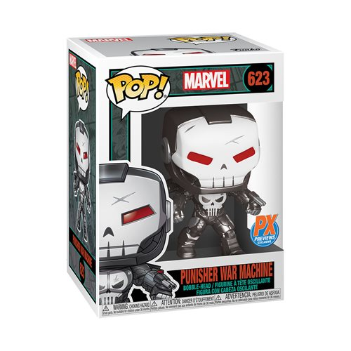 Marvel Punisher War Machine Pop! Vinyl Figure - Previews Exclusive with Variant Comic