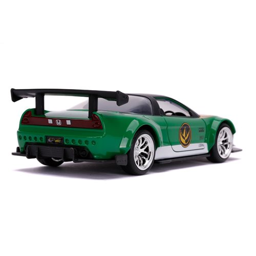 Mighty Morphin Power Rangers Green Ranger 2002 Honda NSX 1:32 Scale Die-Cast Metal Vehicle