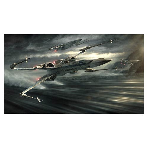 Star Wars: Episode VII - The Force Awakens Incom T-70: Tearin' It Up by Jerry Vanderstelt Paper Giclee Print