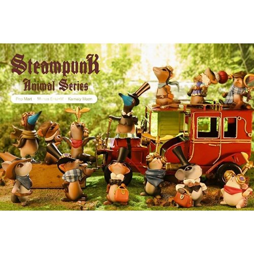 Steampunk Animal Series Random Blind-Box Mini-Figures Display Case