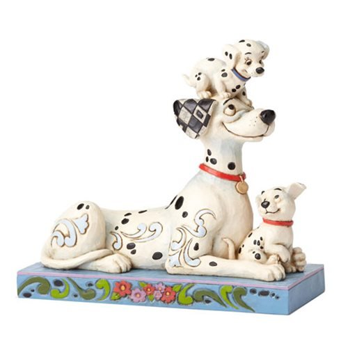 Disney Traditions 101 Dalmatians Pongo with Penny and Rollie Statue