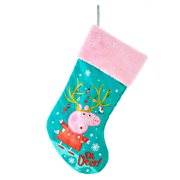 Peppa Pig 18-Inch Green-and-Pink Stocking