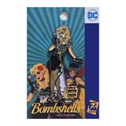 DC Bombshells Black Canary Singing Pin