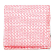 Star Wars Rebel Alliance Pattern Pink and White Italian Silk Pocket Square